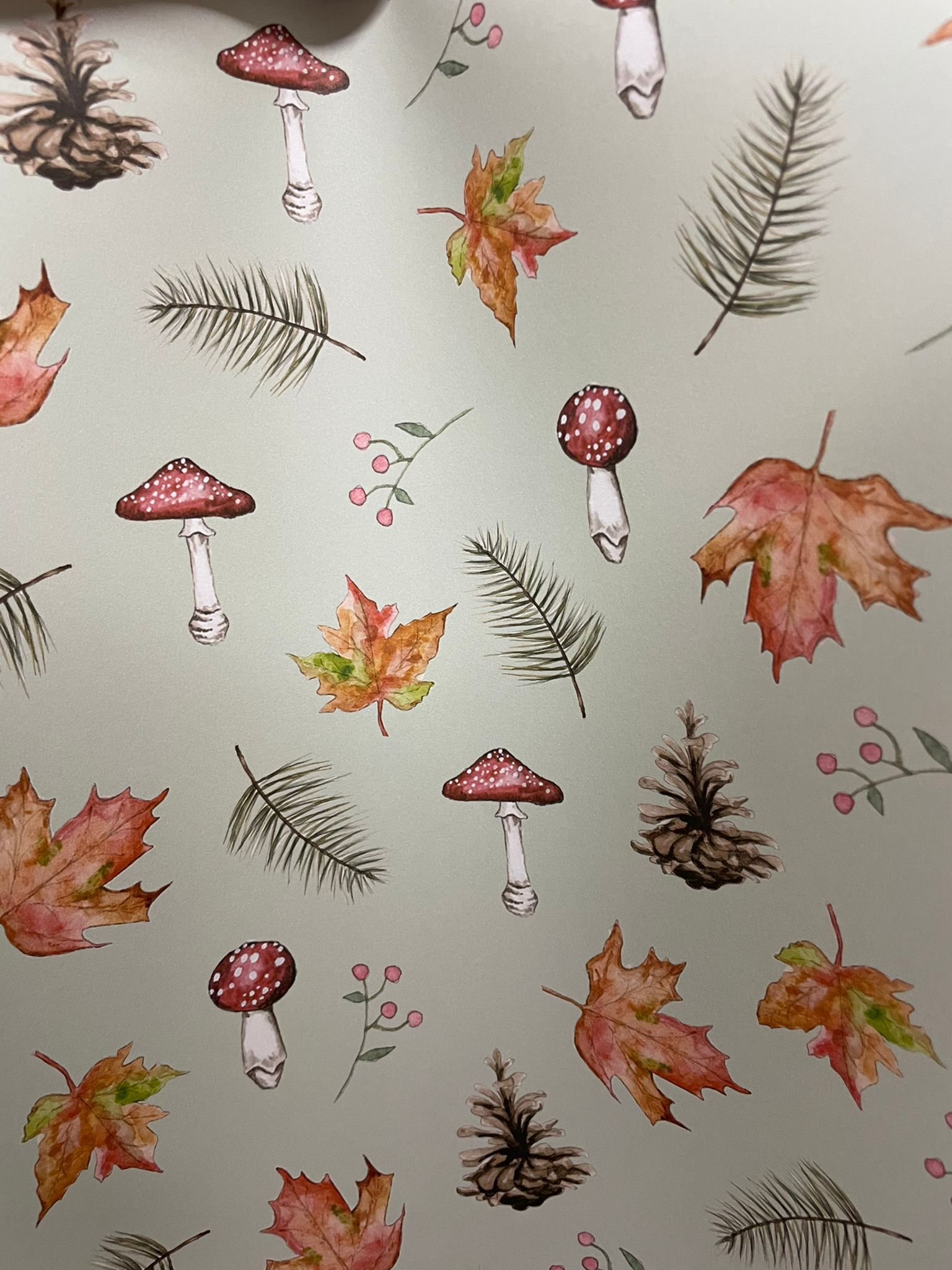 Christmas Festive Woodland, Wrapping Paper   Re-wrapped