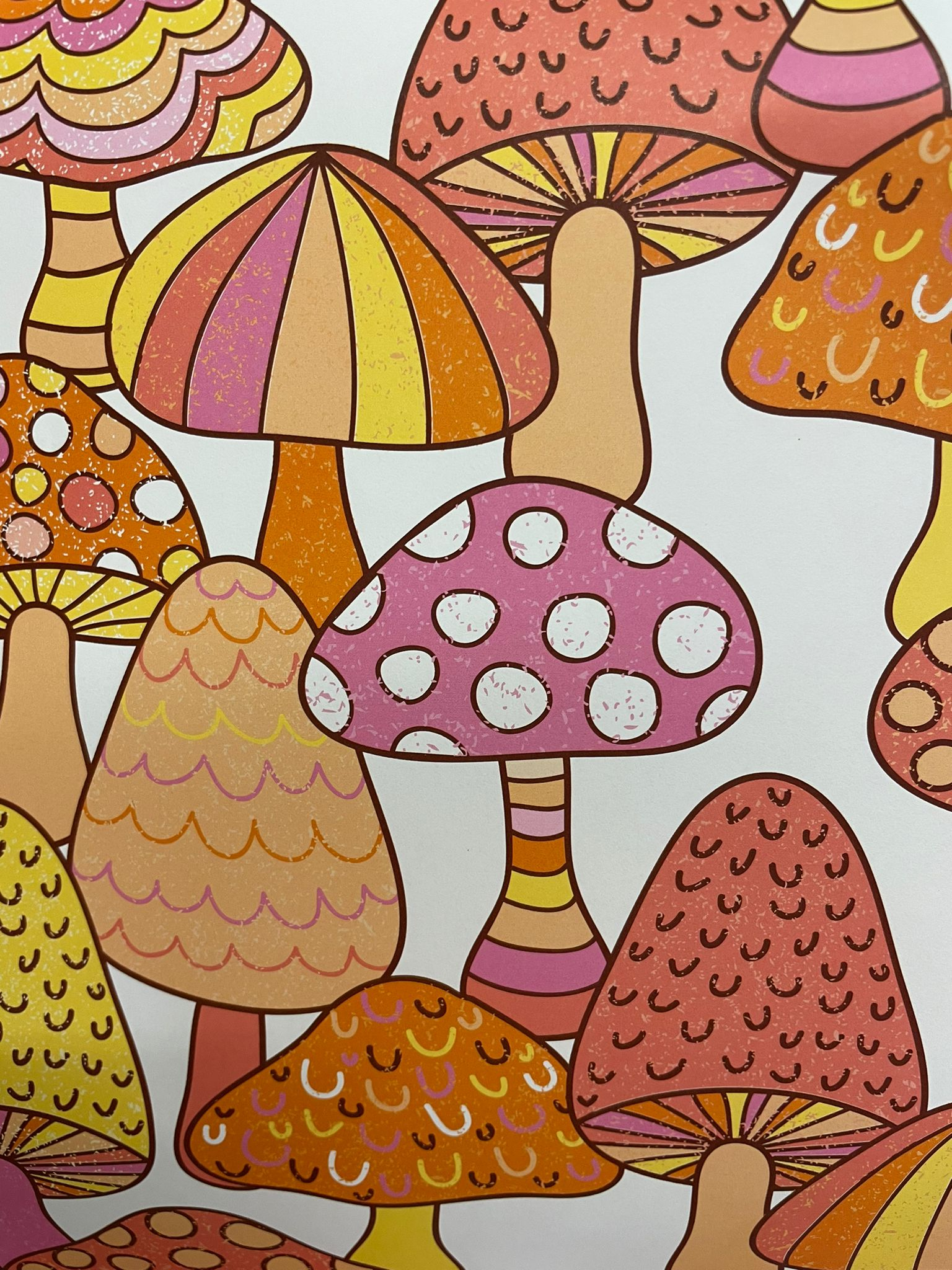 Marvellous Mushrooms Wrapping Paper   Re-wrapped