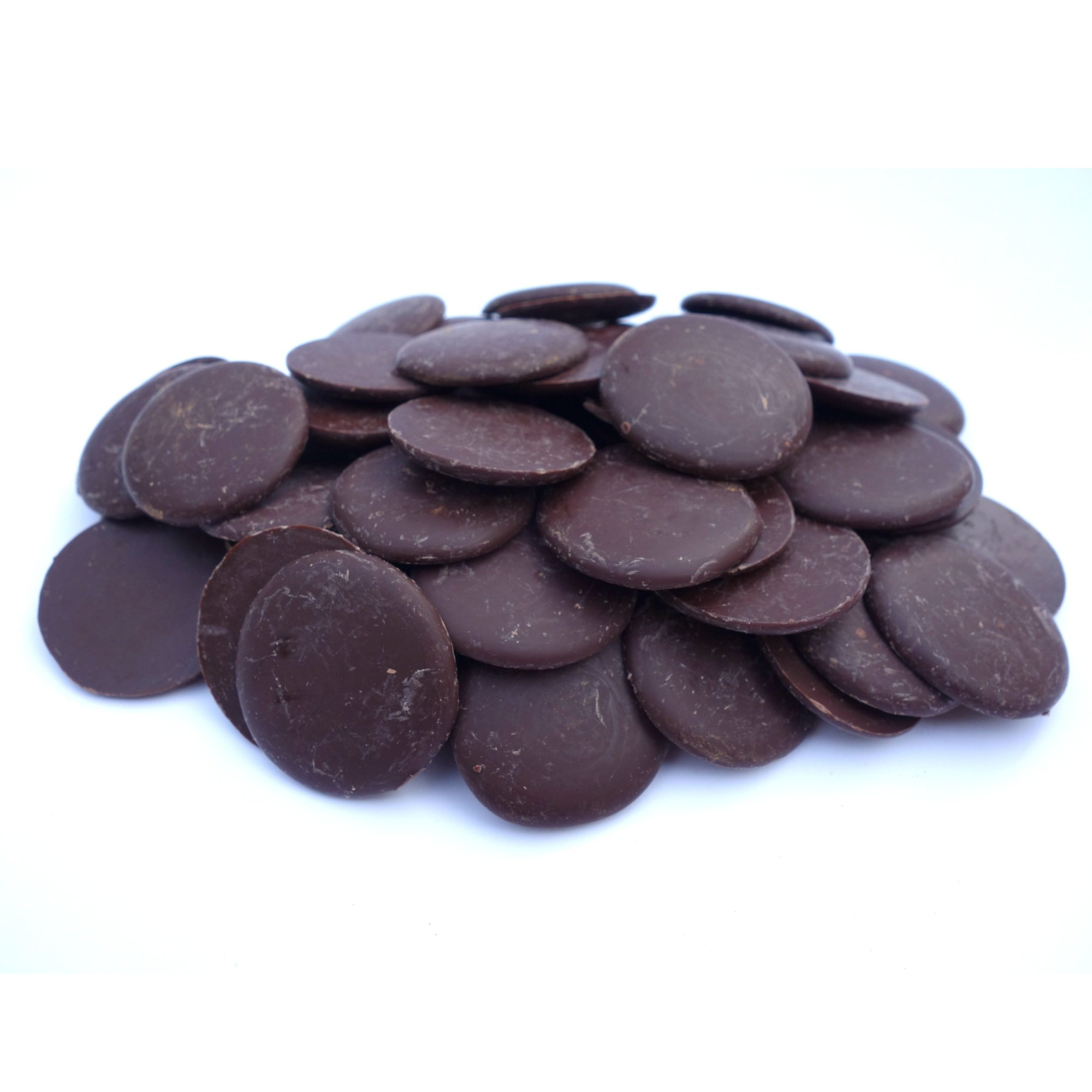 Pitch Dark 72% Chocolate Buttons | Raw Chocolate Company