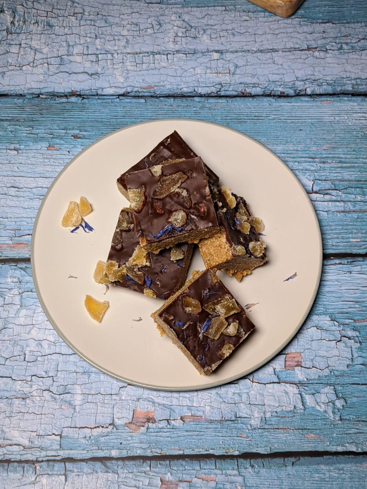 Flapjack: Dark Chocolate & Ginger