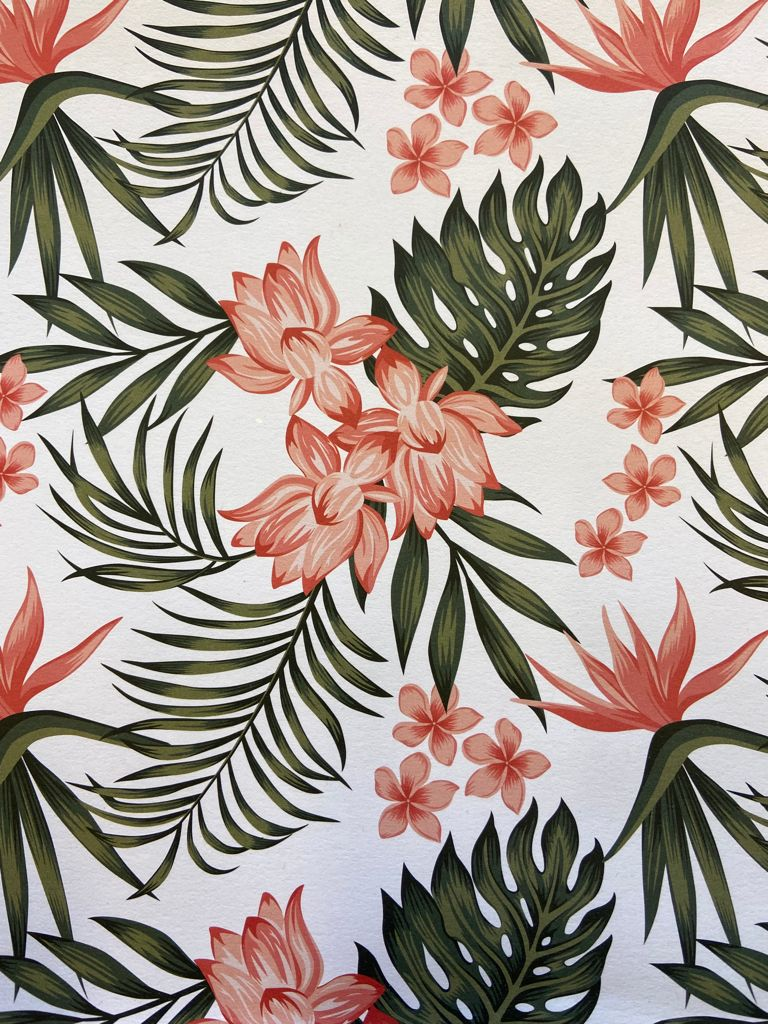 Recycled Gift Wrap Leaf Print