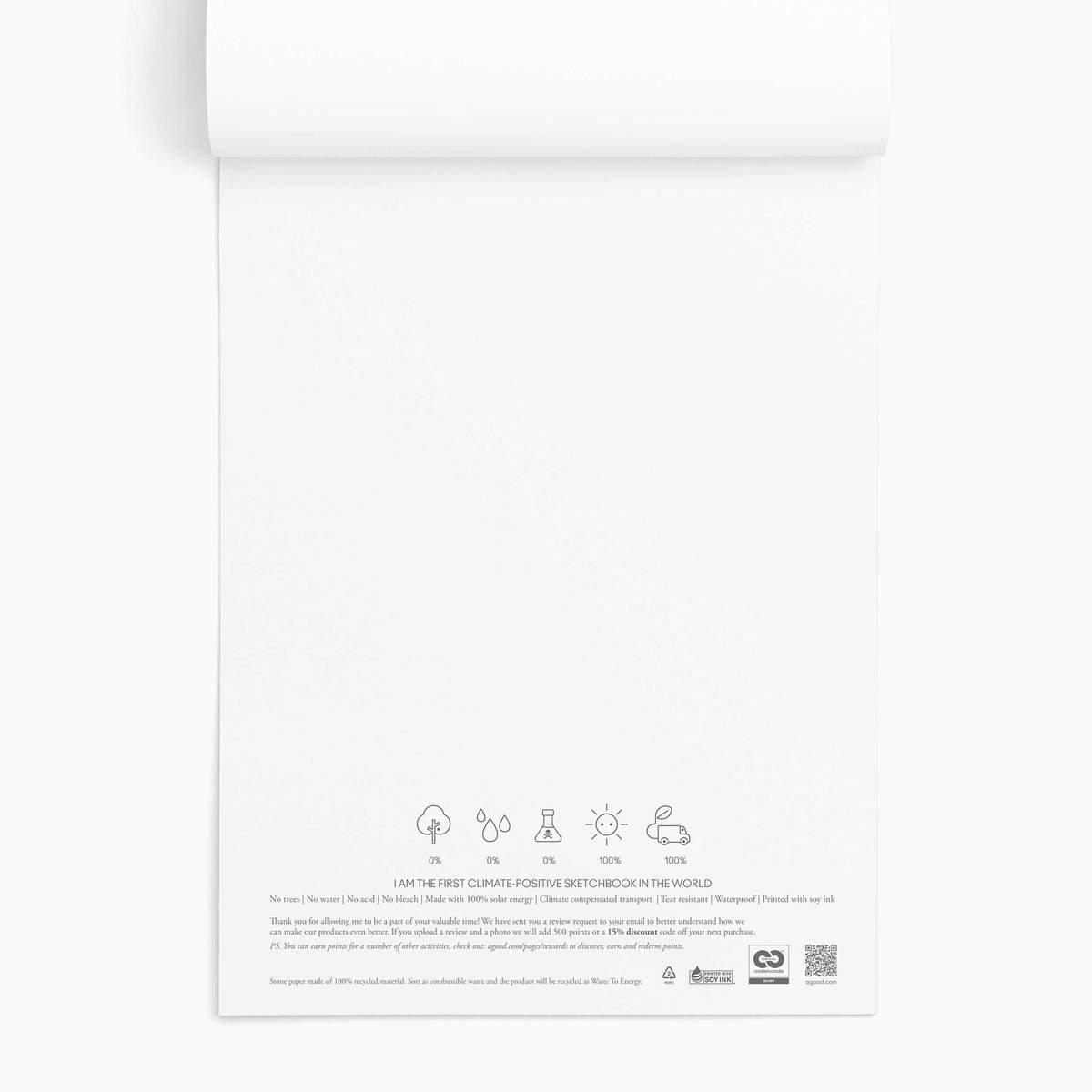 A4 Stone Sketchbook | A Good Company