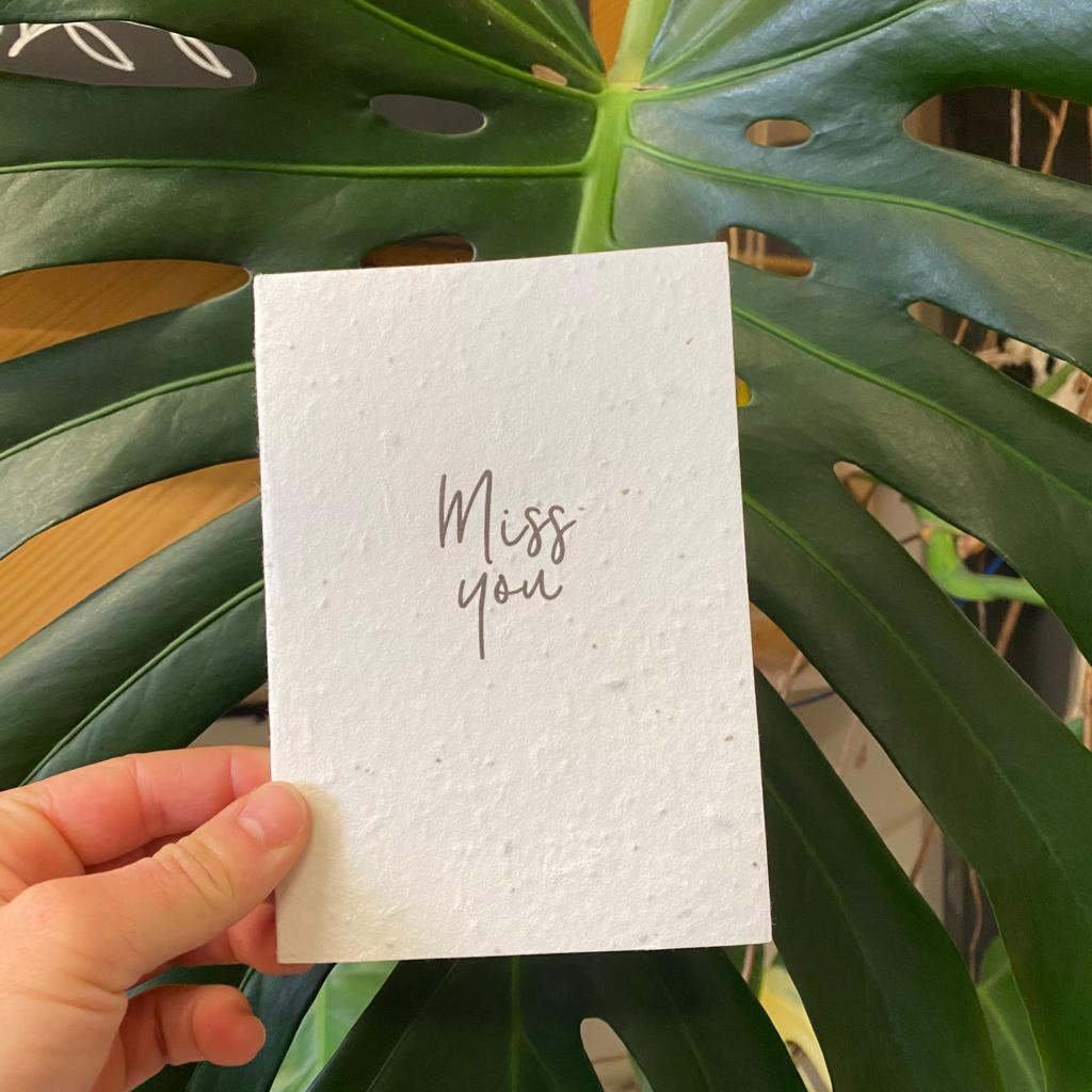 Miss You | Plantable Seed Paper Cards