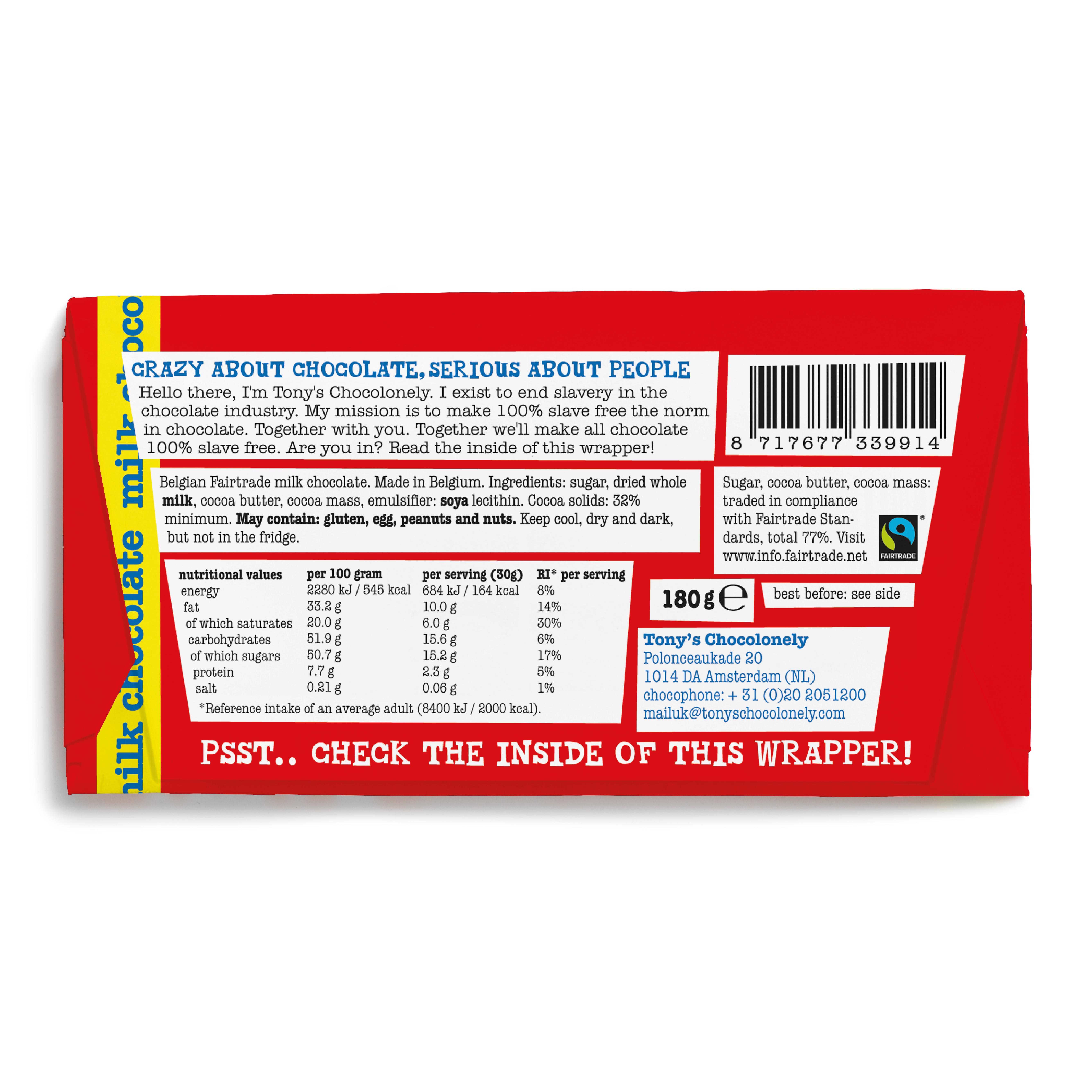 Milk Chocolate 32% | Tony's Chocolonely