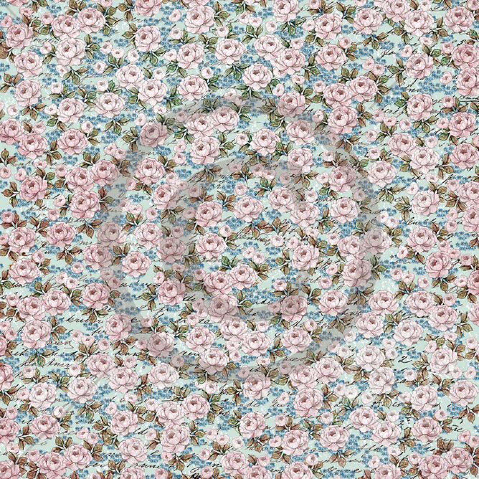 Papirdesign mønsterark 12x12: håpefull rosebusk