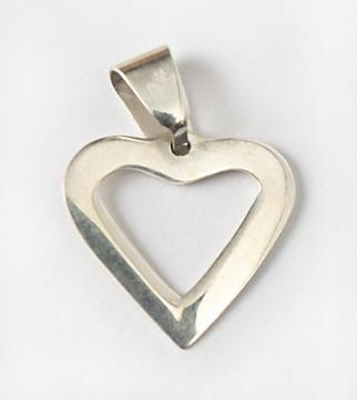 Silversmycke hjärta