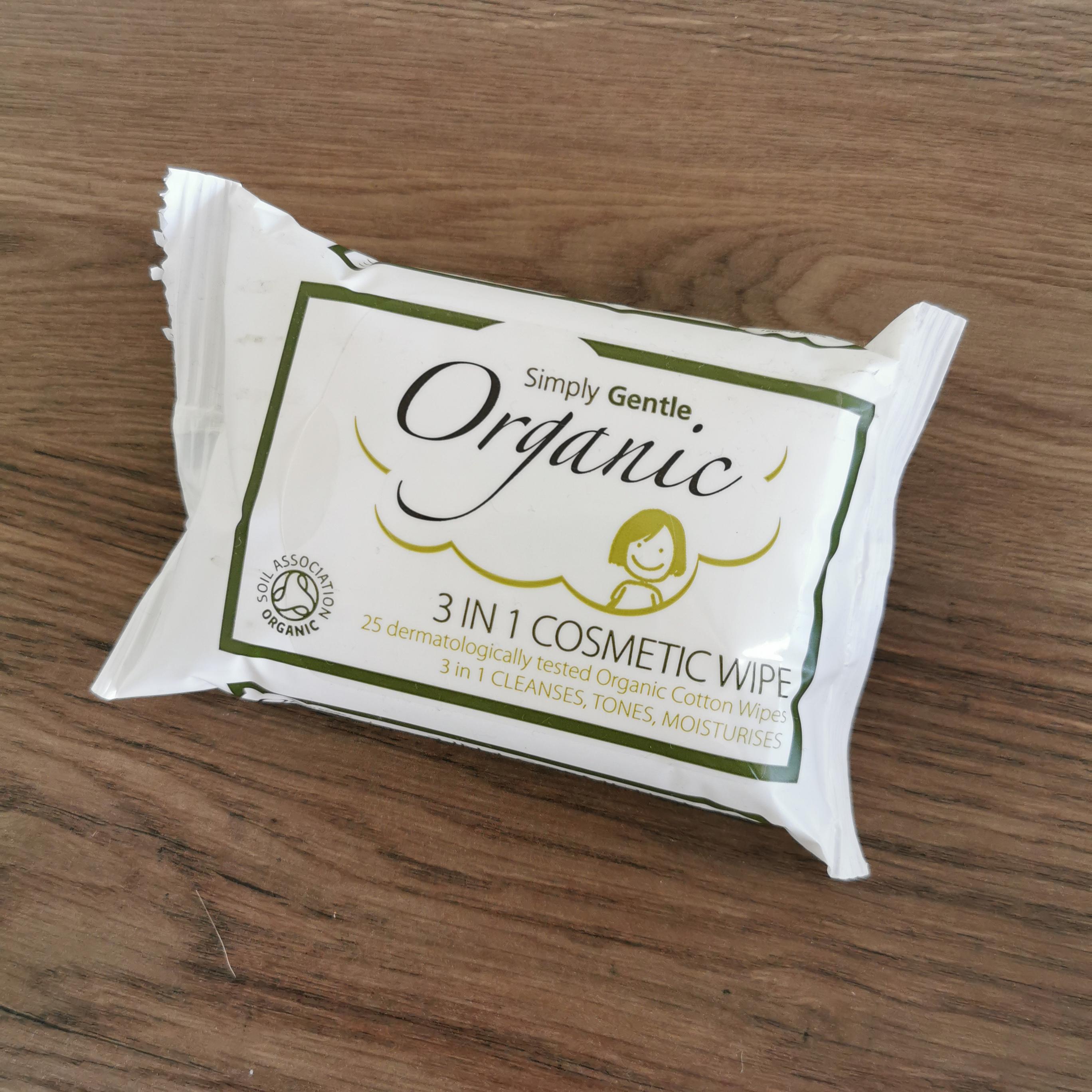 Organic 3 in 1 Cosmetic Wipes
