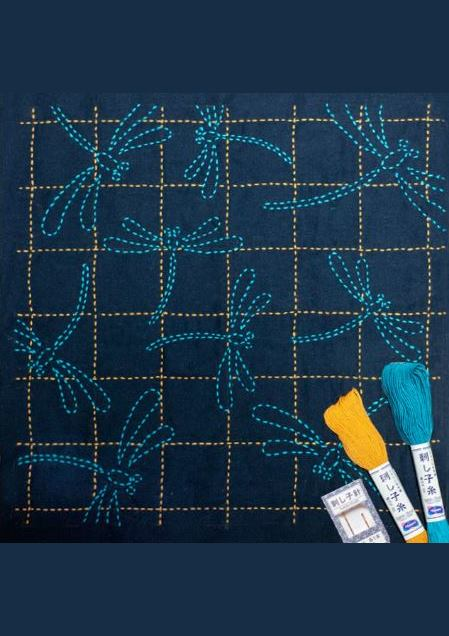 Dragonfly - 'Tombo' Sashiko Embroidery Kit