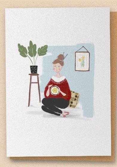 The Stitcher - Greetings Card - Blank
