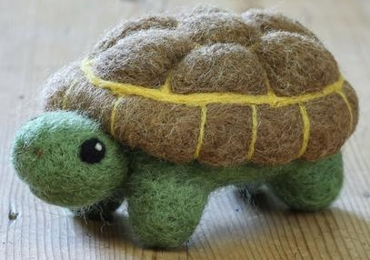 Tortoise Large Needle Felting Kit