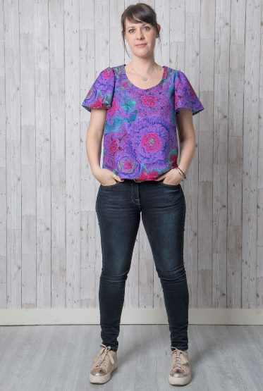 Iris Top or Blouse Sewing Pattern - by Emporia