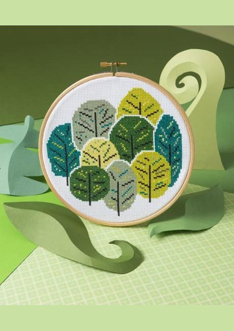 Summer Trees - Hoop Cross Stitch Kit