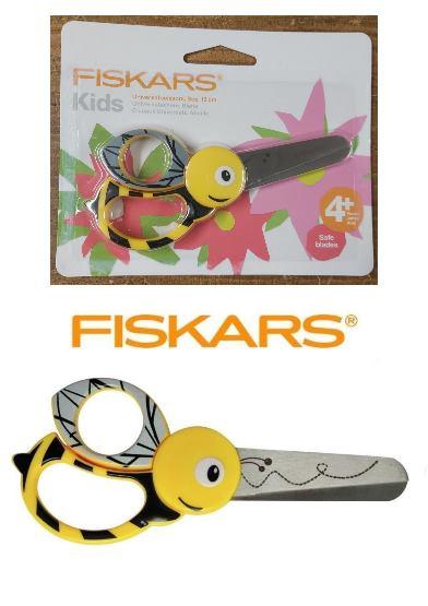 Fiskars Kids Bee Scissors 13cm