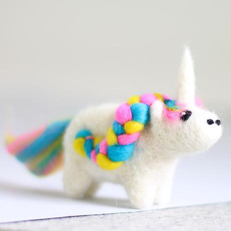 Unicorn Mini Needle Felting Kit