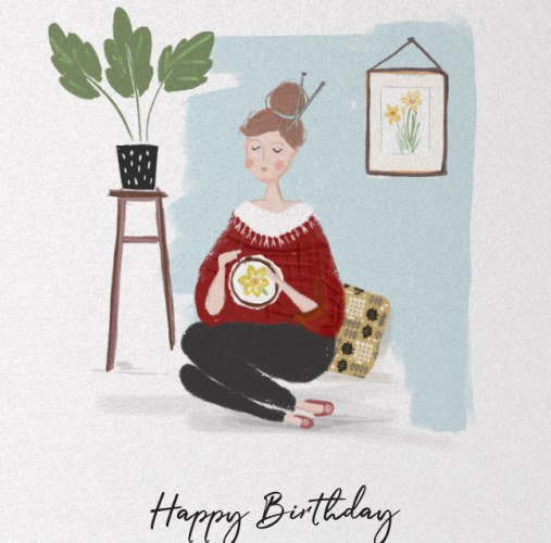 The Stitcher - Greetings Card - Happy Birthday