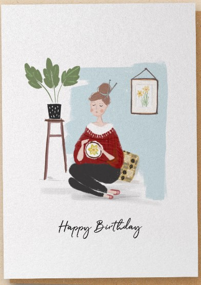 The Stitcher - Greetings Card - Happy Birthday