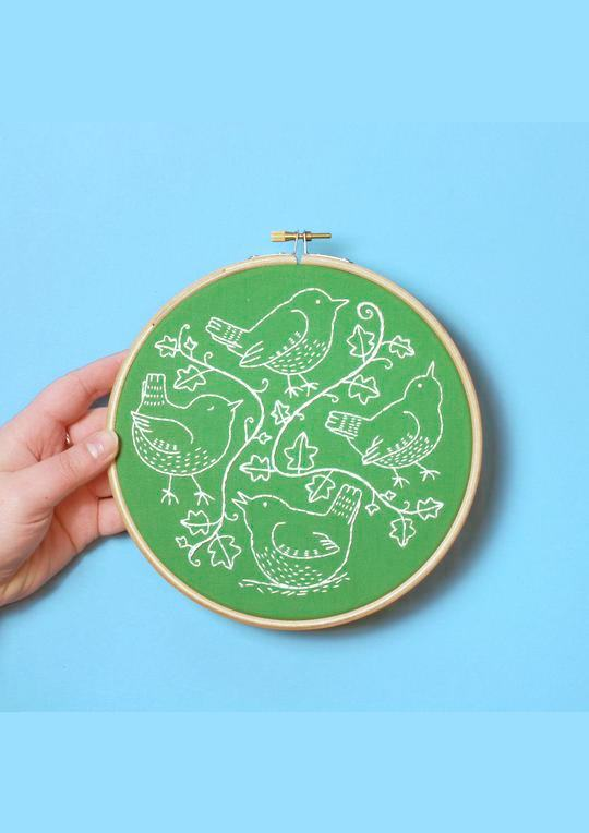 Wandering Wrens  Hoop Embroidery Kit