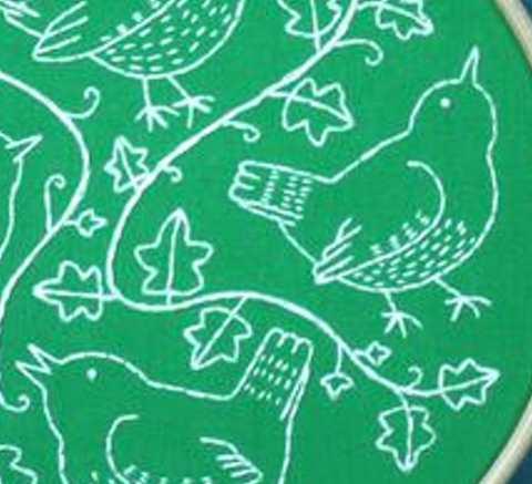 Wandering Wrens  Hoop Embroidery Kit
