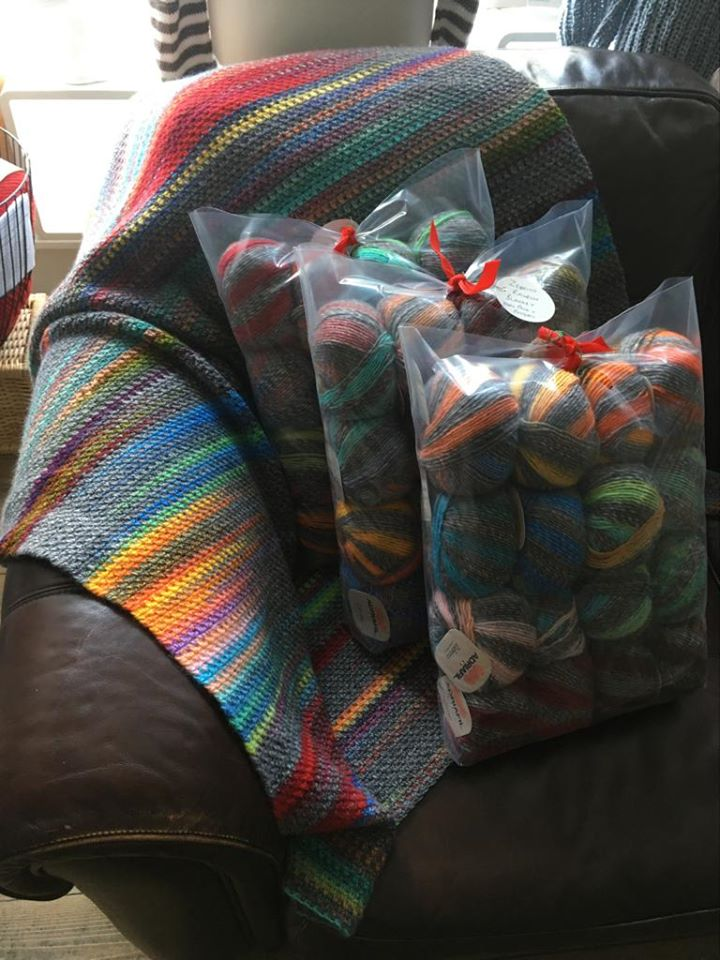 Zebrino Blanket Kit - Crocheted