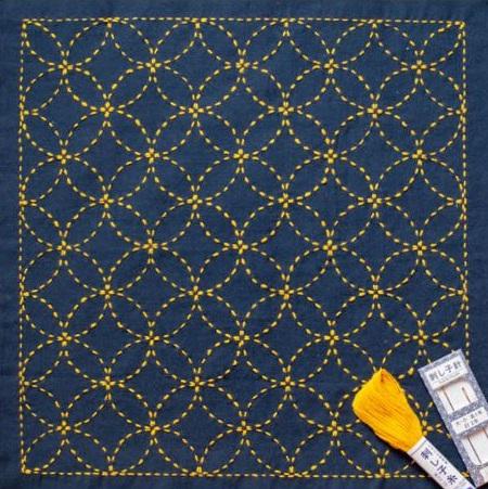 Seven Treasures 'Shippou Tsunagi' Sashiko Embroidery Kit