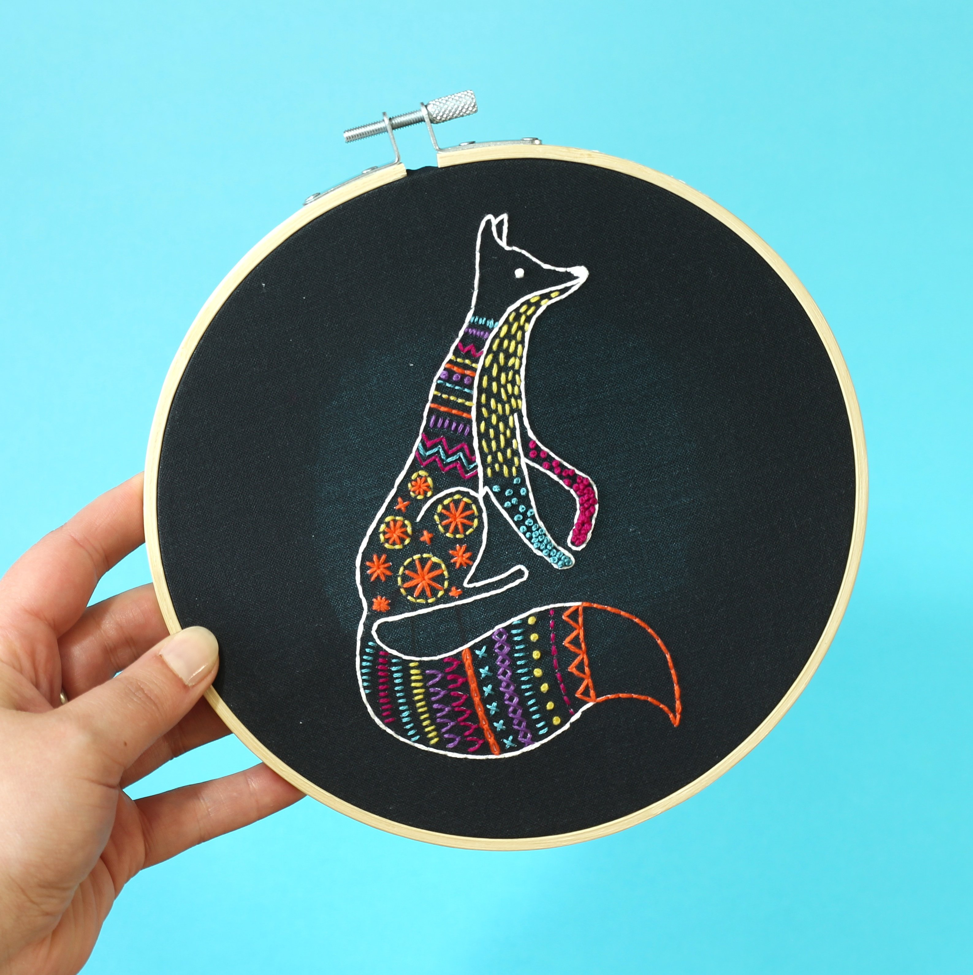 Fox - Hoop Embroidery Kit