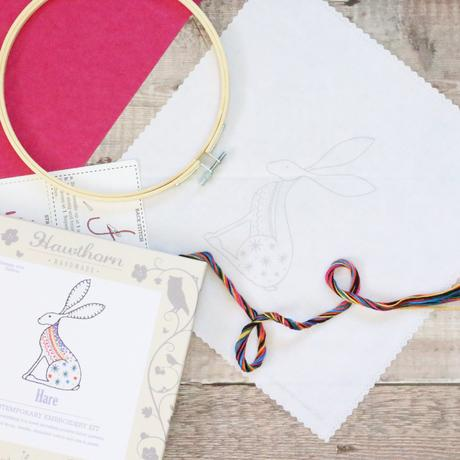 Hare - Hoop Embroidery  Kit