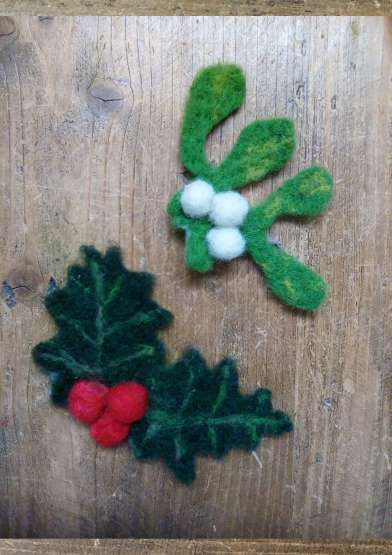 Special Christmas Felt Club - Online workshop   with The Wool Croft