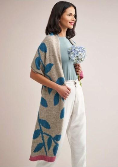 Dee Hardwicke - Night Garden Scarf - Knitting Kit in Rowan Moordale yarn