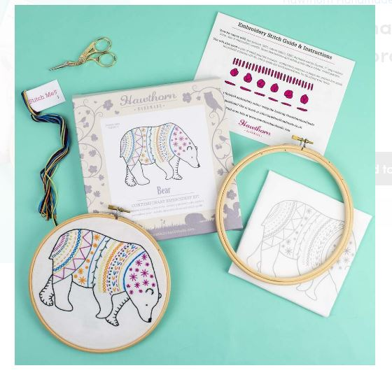 Bear - Hoop Embroidery Kit