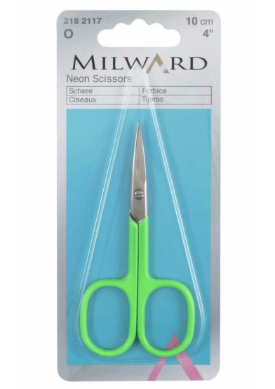 "Milward Neon Scissors - Green 4"" 10cm"