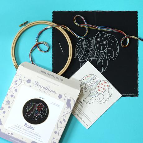 Elephant - Hoop Embroidery Kit