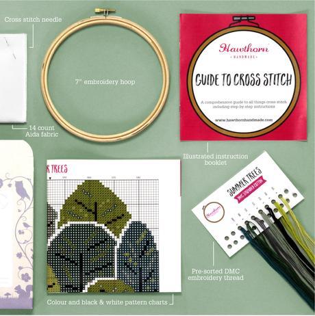 Summer Trees - Hoop Cross Stitch Kit