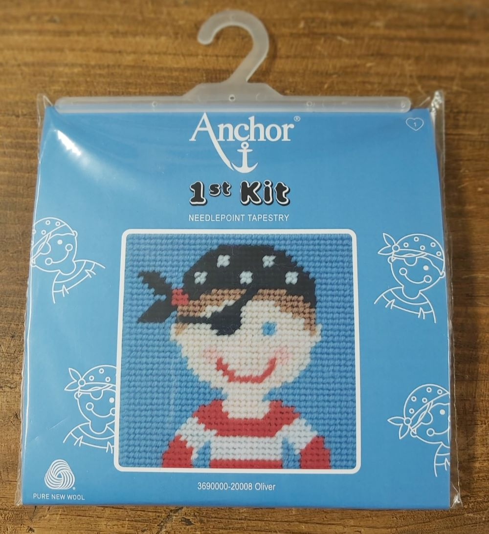 Anchor Cross Stitch Kit : Oliver The Pirate