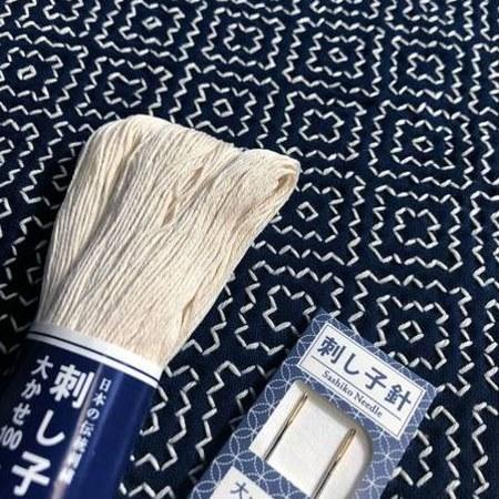 Persimmon - Kakinohana Hitomezashi Embroidery Kit