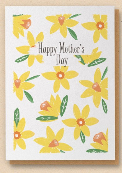 Mother's Day Greetings Card - Daffodils