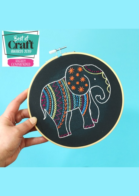 Elephant - Hoop Embroidery Kit