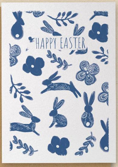Easter Bunnies - Happy Easter - Greetings Card