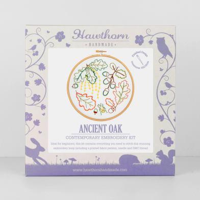 Ancient Oak - Hawthorn Hoop Embroidery Kit