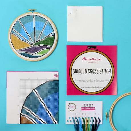 Blue Sky - Hoop Cross Stitch Kit
