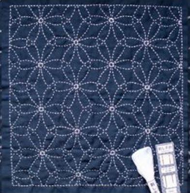 Stitched Flowers 'Hanazashi' Sashiko Embroidery Kit