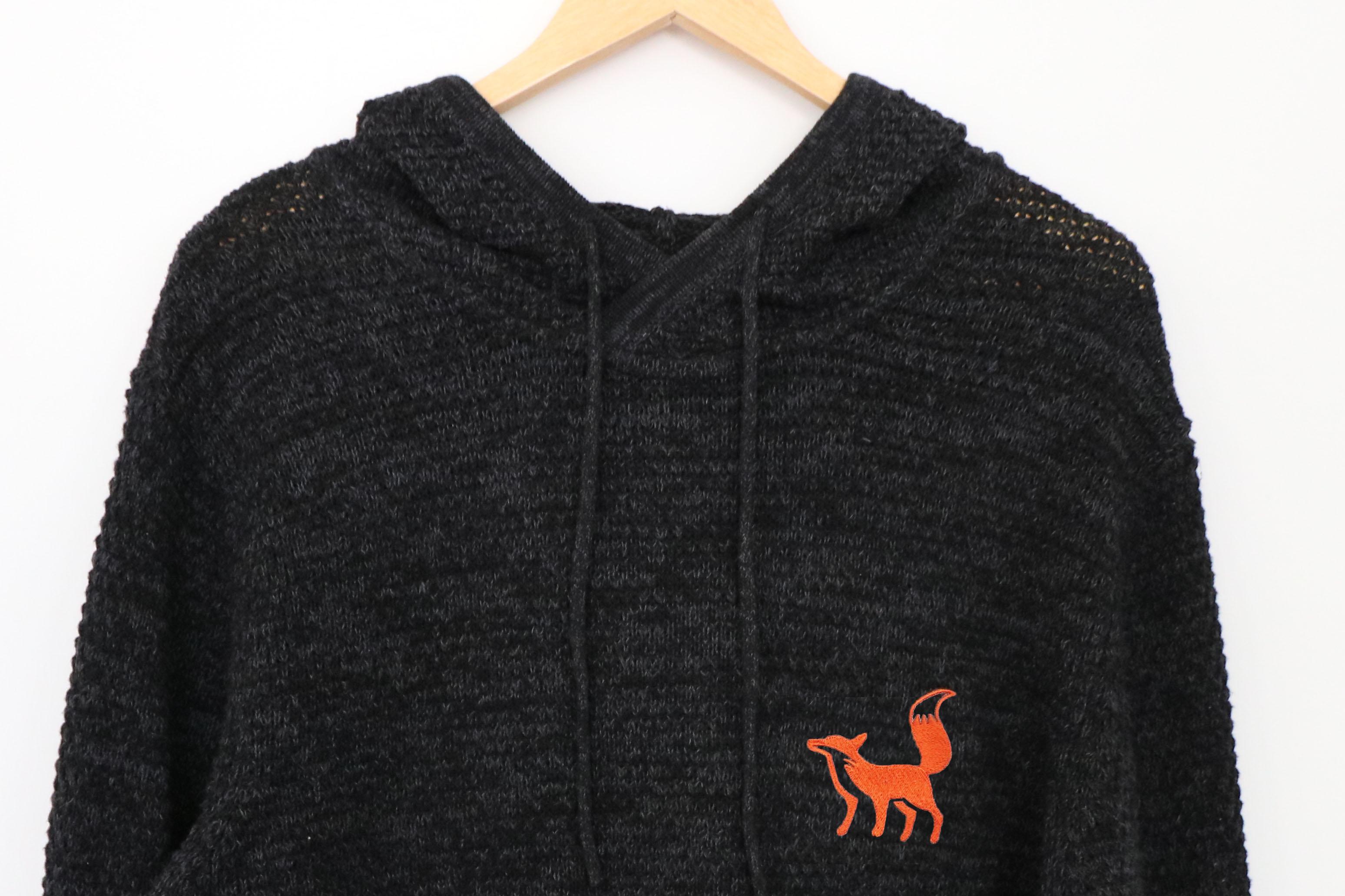 Fox Knit Oversize Hoodie
