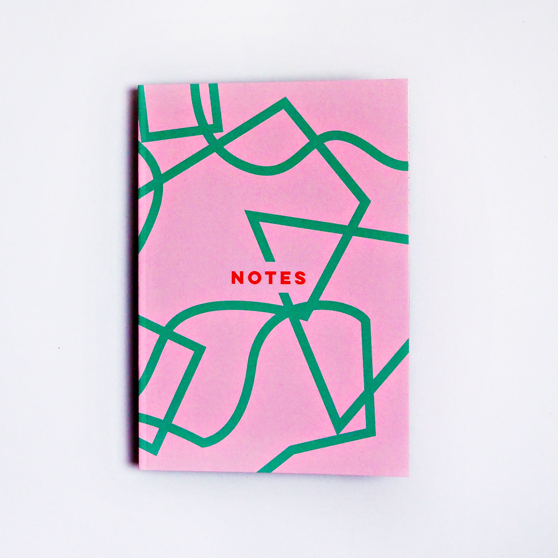 Pink Graphic Shapes Notebook