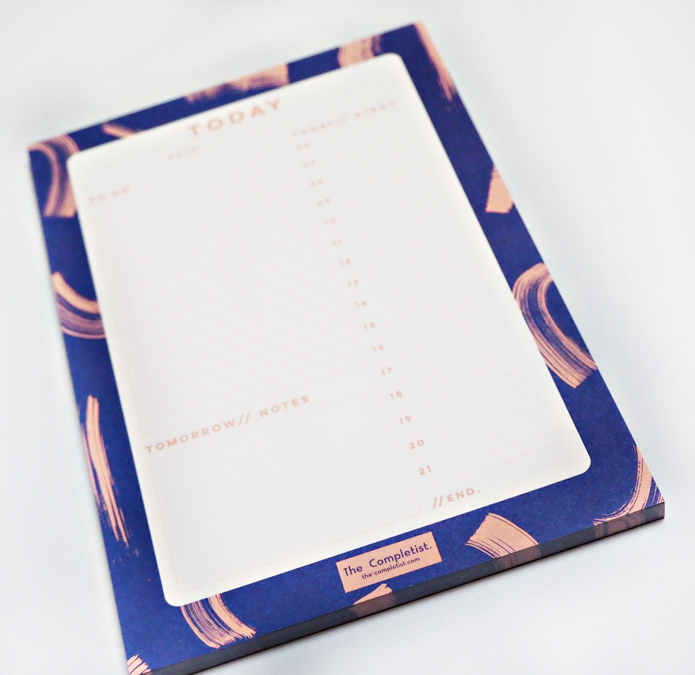 Blue Shadow Brush Daily Planner Pad