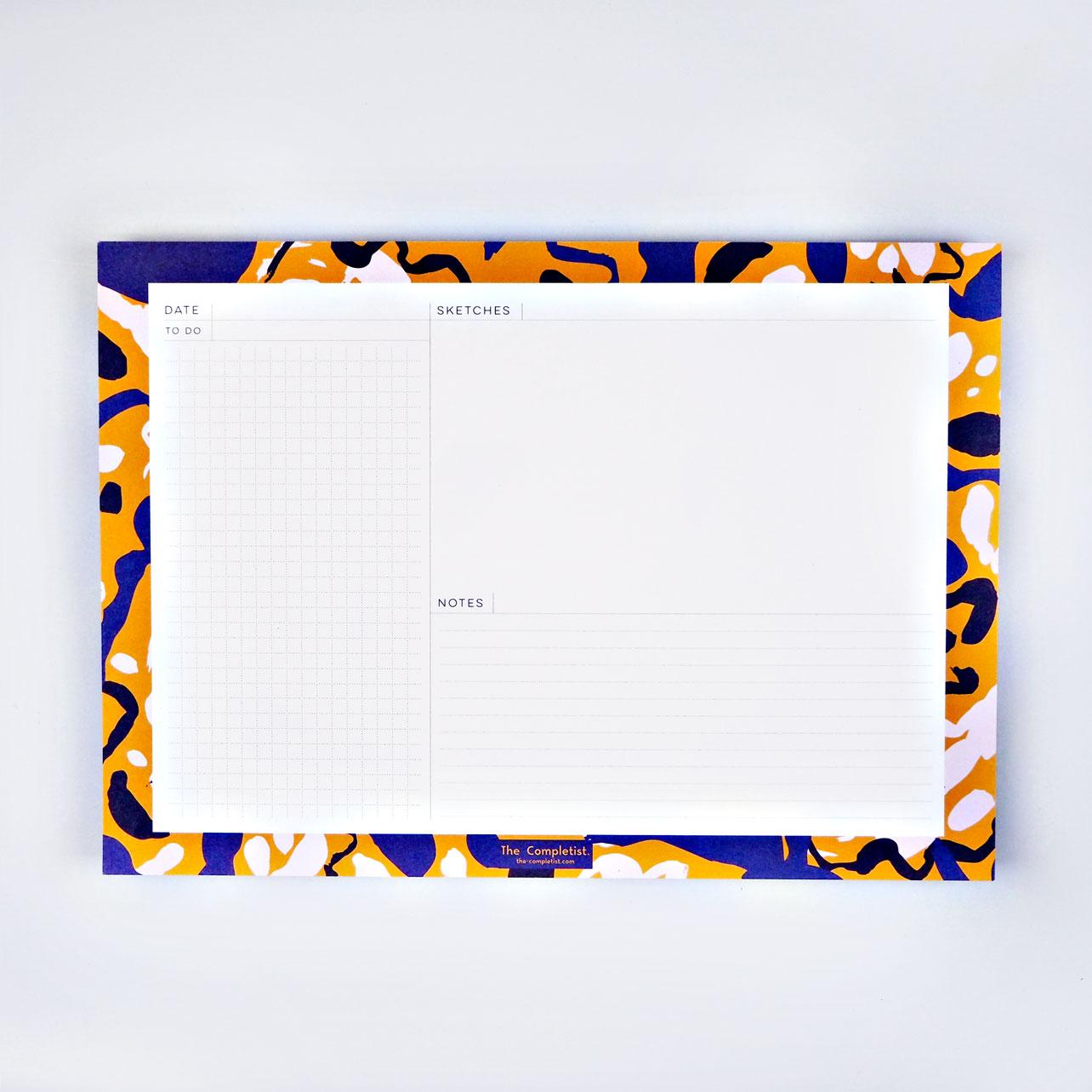 Inky Flower Weekly Planner Pad