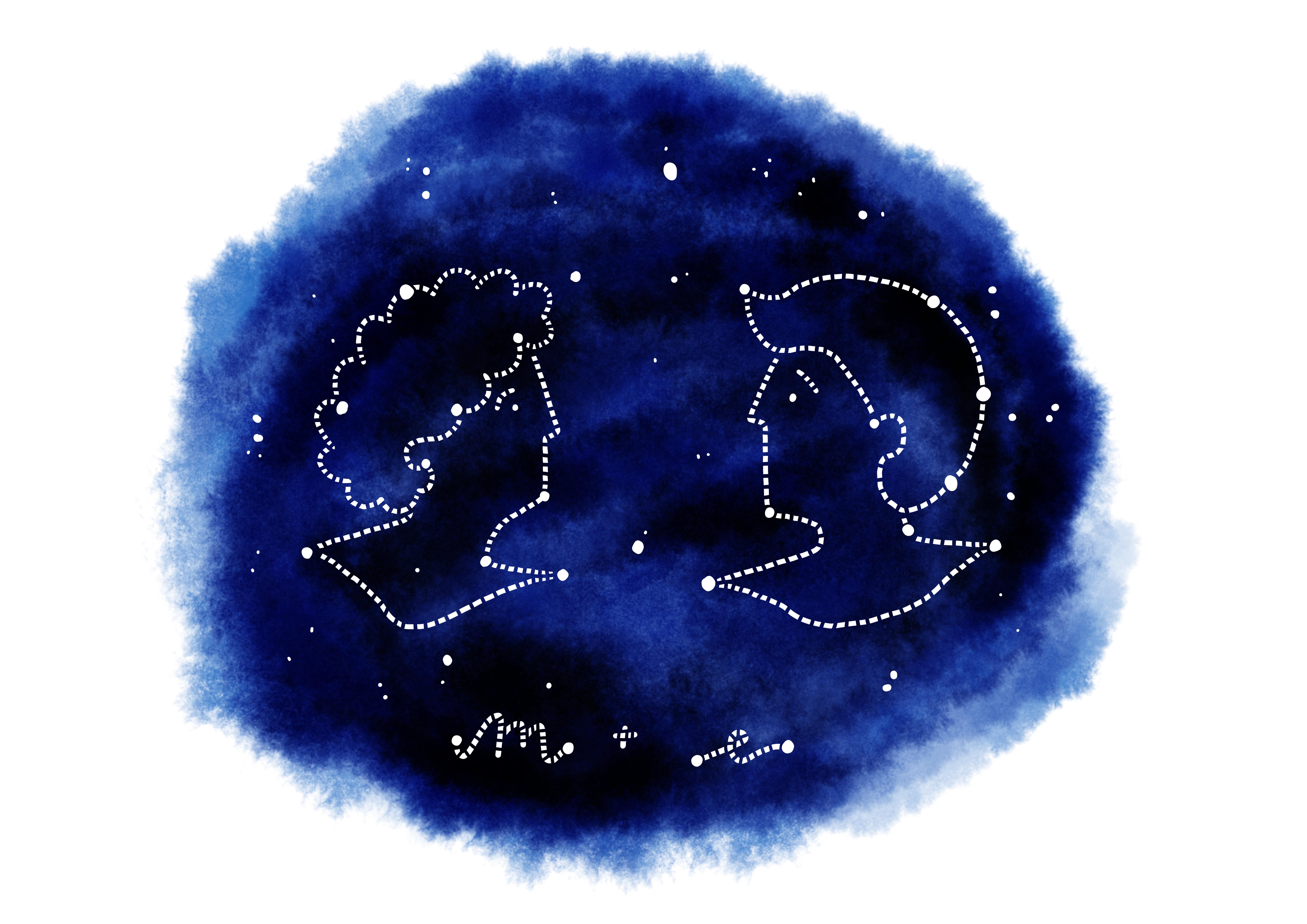 CUSTOM COUPLES PRINT Starry Sky A3
