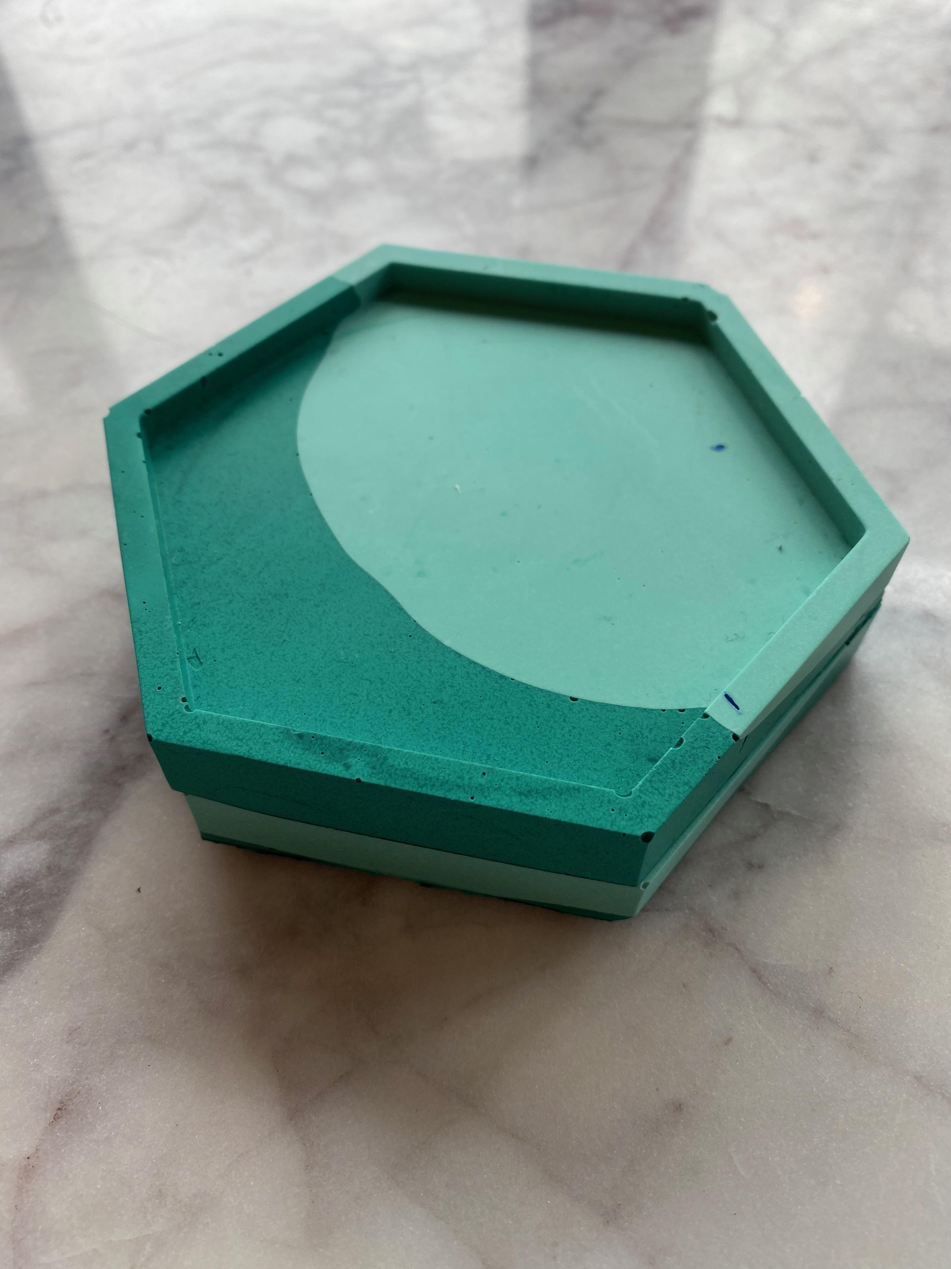 Jesmonite Hexagon Coasters