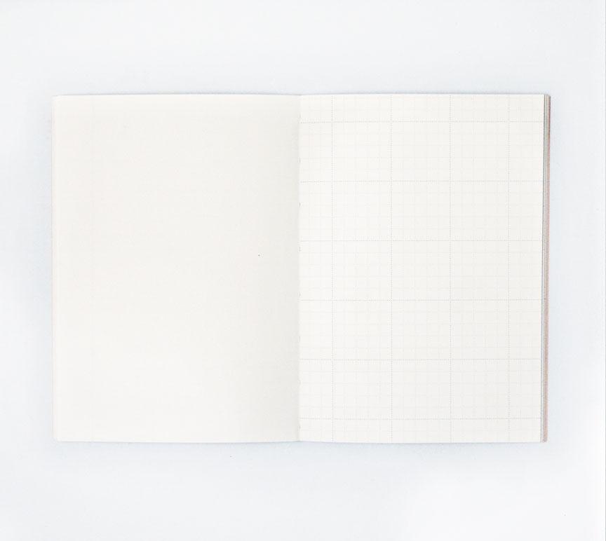 Burnt Peach Shadow Brush Lay Flat Notebook