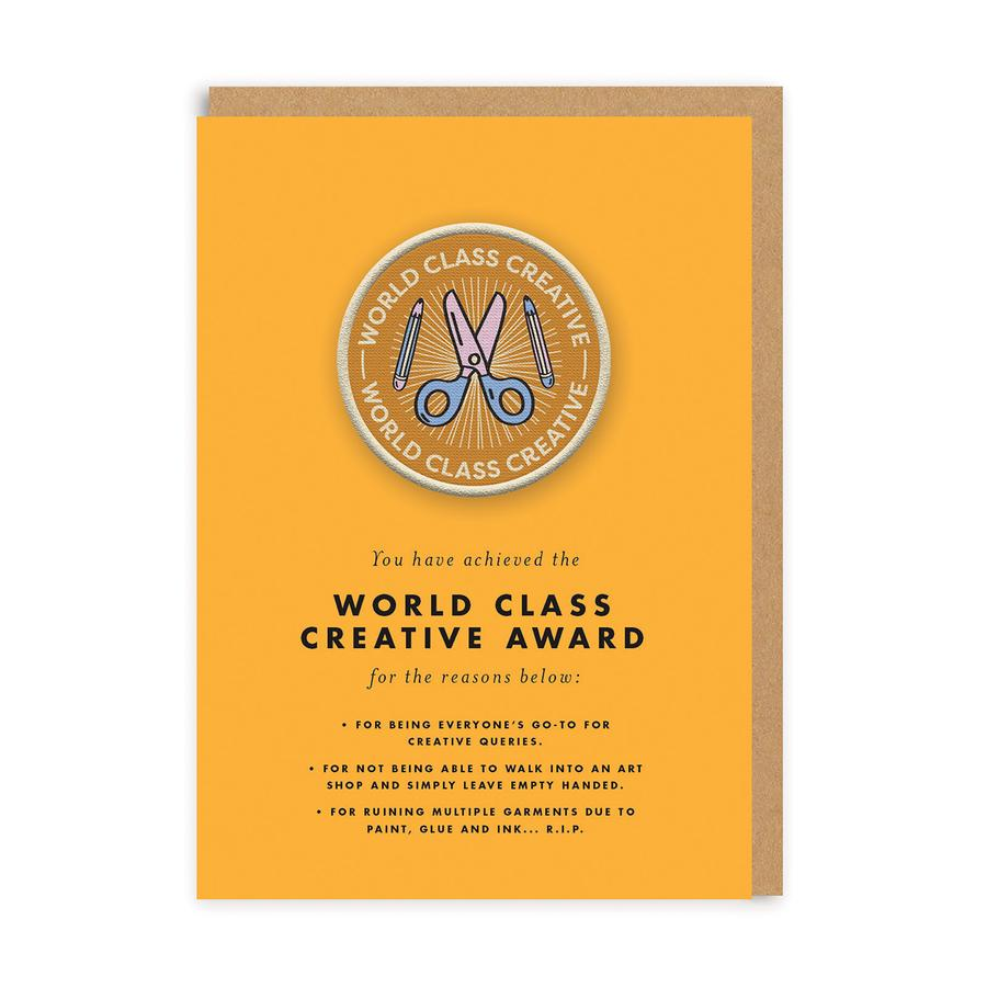 World Class Creative Woven Patch Greeting Card