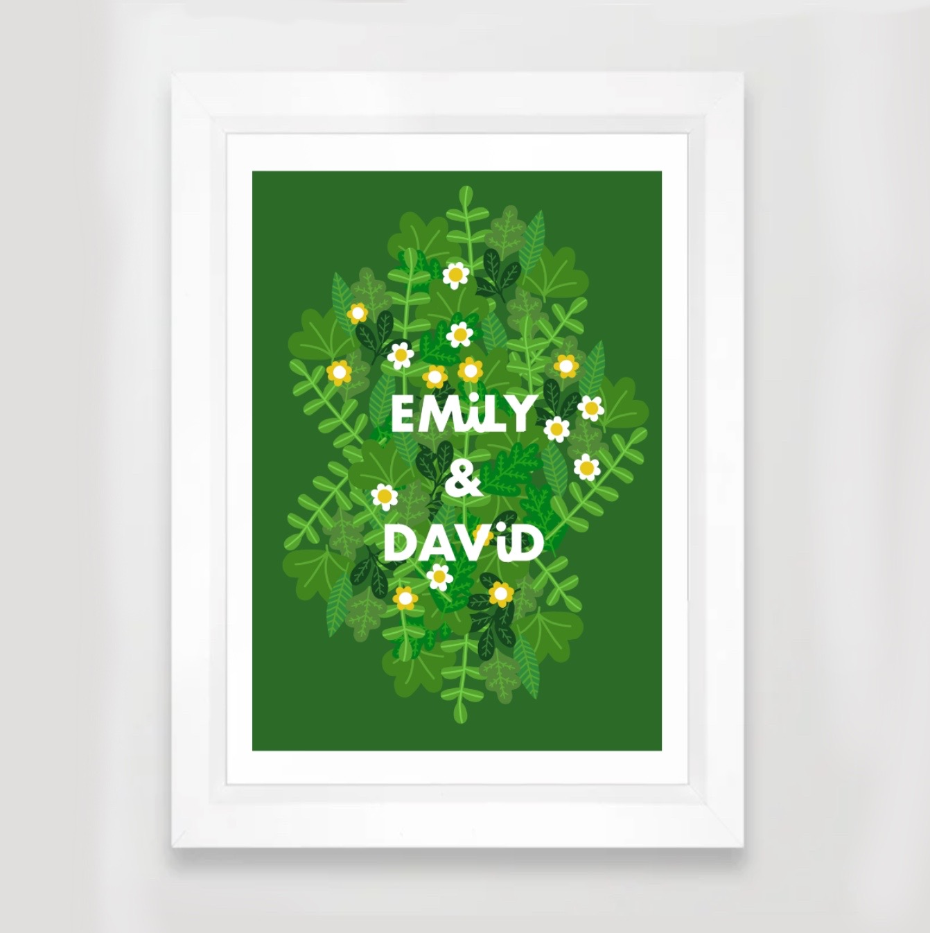 CUSTOM NAME PRINT Green Park A3