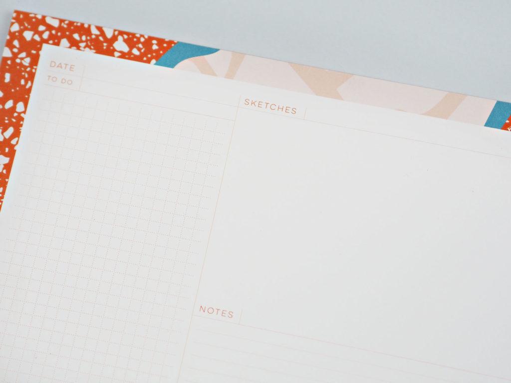 Orange Patchwork Organiser Pad